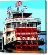 Steamer Natchez Paddleboat Canvas Print