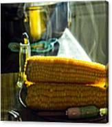 Steaming Corn Canvas Print