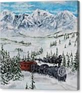 Steaming Thru The Rockies Canvas Print