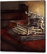 Steampunk - A Crusty Old Typewriter Canvas Print