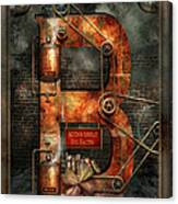 Steampunk - Alphabet - B Is For Belts Canvas Print