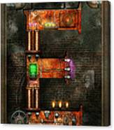Steampunk - Alphabet - E Is For Electricity Canvas Print
