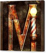 Steampunk - Alphabet - M Is For Mustache Canvas Print