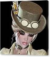 Steampunk Blond Woman Canvas Print