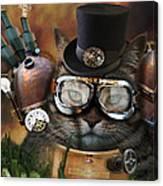 Steampunk Cat Canvas Print