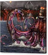 Steampunk - Enteroctopus Magnificus Roboticus Canvas Print