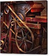 Steampunk - Gear - Belts And Wheels  Canvas Print