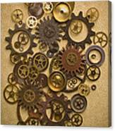 Steampunk Gears Canvas Print