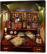 Steampunk - My Busy Study Canvas Print