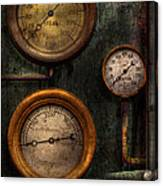 Steampunk - Plumbing - Gauging Success Canvas Print