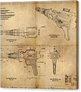 Steampunk Raygun Canvas Print