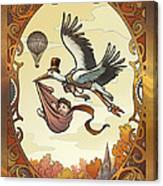 Steampunk Stork Canvas Print