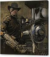 Steampunk - The Man 1 Canvas Print