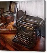 Steampunk - Typewriter - The Secret Messenger  Canvas Print