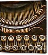Steampunk - Typewriter - Underwood Canvas Print