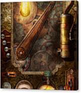 Steampunk - Victorian Fuse Box Canvas Print