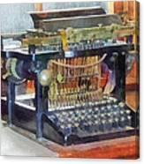 Steampunk - Vintage Typewriter Canvas Print