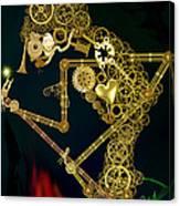 Steampunk Wayang Kulit Canvas Print