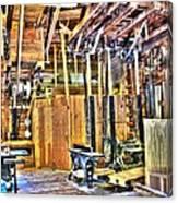 Steampunk Woodshop 4 Canvas Print