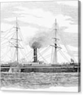 Steamship, 1853 Canvas Print