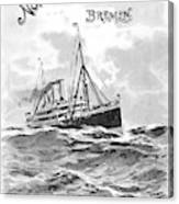 Steamship Menu, 1901 Canvas Print