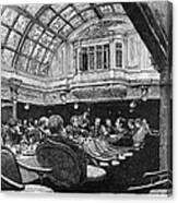 Steamship: Saloon, 1890 Canvas Print