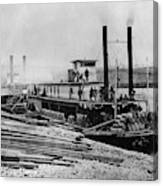 Steamships, C1864 Canvas Print