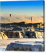 Steamy Iceburgs Canvas Print