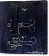 1929 Stearman Patent Drawing Blue Canvas Print