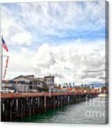 Stearns Wharf Santa Barbara California Canvas Print