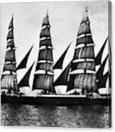 Steel Barque, 1921 Canvas Print