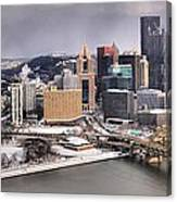 Steel City Storm Clouds Canvas Print