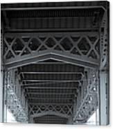 Steel Girder Bridge Canvas Print