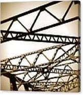 Steel Lines Canvas Print