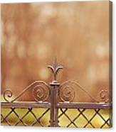Steel Ornamented Fence Canvas Print