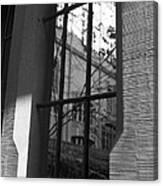 Steel Window Canvas Print