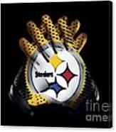 Steelers Gloves Canvas Print