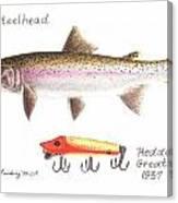 Steelhead And Heddon Great Vamp Lure 1937 Canvas Print