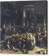 Steen: Merrymaking, 1674 Canvas Print