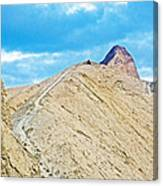 Steep Trail To Manly Beacon From Golden Canyon In Death Valley National Park-california  Canvas Print