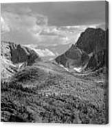 109629-bw-steeple And Temple Peaks, Wind Rivers Canvas Print