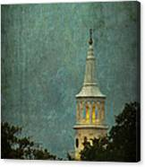 Steeple In A Storm Canvas Print