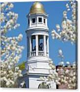 Steeple With Clock Canvas Print