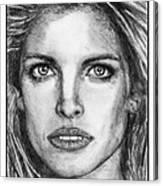 Stephanie Seymour In 1992 Canvas Print