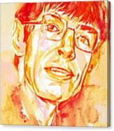 Stephen Hawking Portrait Canvas Print