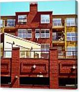 Stepped Building Canvas Print