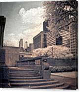 Steps In A City Park Canvas Print