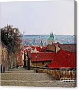 Steps Of Prague Canvas Print