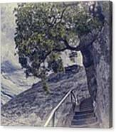 Steps To Beauty On Moro Rock Canvas Print