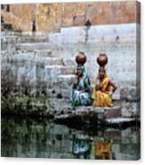 Stepwell Reflections Canvas Print